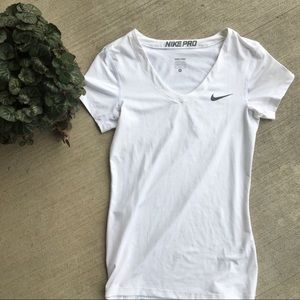 Nike Pro White Athletic Top